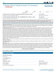 50-246 Dealer's Motor Vehicle Inventory Tax Statement