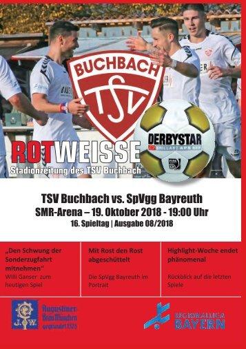 Stadionzeitung TSV Buchbach - SpVgg Oberfranken Bayreuth