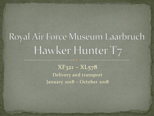 October 2018 Hunter-Assembly progress