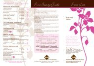Price List - Pure Professional Health and Beauty Limited
