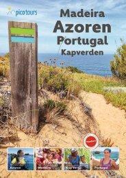 picotours Katalog 2019: Madeira, Portugal, Kap Verde und Azoren Reisen