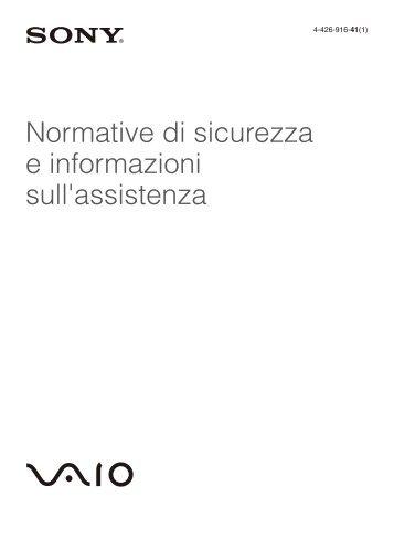 Sony SVE1511V1R - SVE1511V1R Documents de garantie Italien