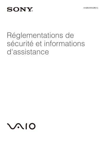 Sony SVE1511V1R - SVE1511V1R Documents de garantie Français