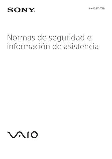 Sony SVE1511V1R - SVE1511V1R Documents de garantie Espagnol