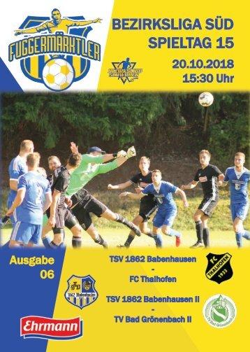 20181020 Fuggermärktler TSV 1862 Babenhausen – FC Thalhofen