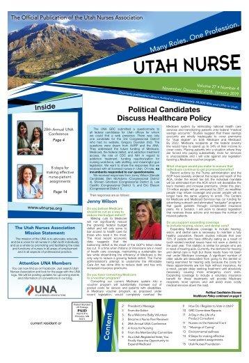 Utah Nurse - November 2018