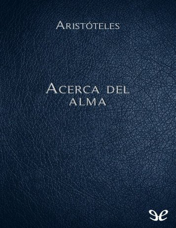 Acerca del alma - Aristóteles