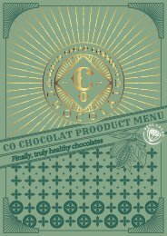 Co Chocolat Menu of Products