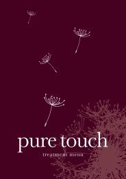 VIEW our TREATMENT MENU - Pure Touch