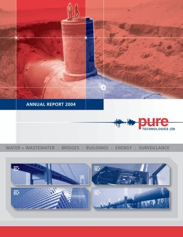 bridges : buildings : energy : surveillance annual report 2004 - Pure ...