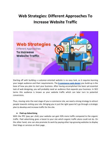 Web Strategies_ Different Approaches To Increase Website Traffic