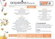 Nouvelle carte brasserie Desjardins