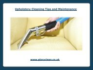 Upholstery Cleaning Tips and Maintenance
