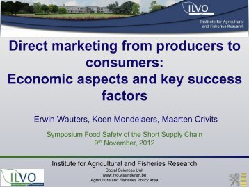 Direct marketing from producers to consumers: Economic ... - Favv