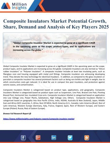 Composite Insulators Market Potential Growth, Share, Demand and Analysis of Key Players 2025