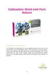 Cadeaubox Week-end Pure Nature - Sales-Lentz