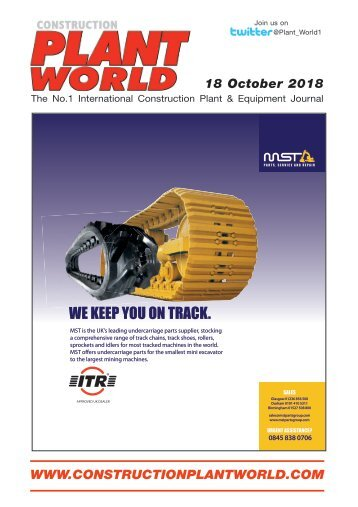 Construction Plant World 18th October 2018