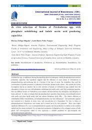 In vitro selection of Strains of Trichoderma spp. with phosphate solubilizing and indole acetic acid producing capacities