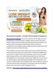 Natural Garcinia Cambogia - Will Garcinia Cambogia Help You Lose Weight?