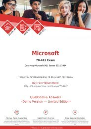 70-461 Questions PDF - Secret to Pass Microsoft 70-461 Exam [You Need to Read This First]