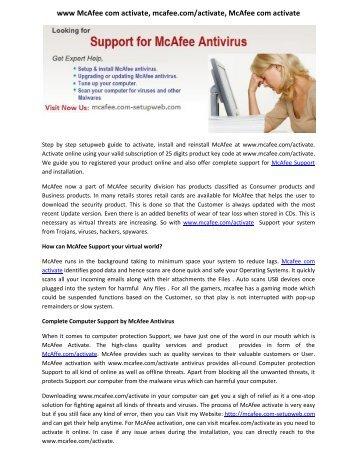 www McAfee com activate, mcafee.com/activate, McAfee com activate