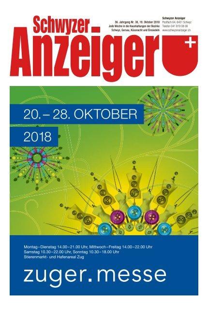Schwyzer Anzeiger – Woche 42 – 19. Oktober 2018