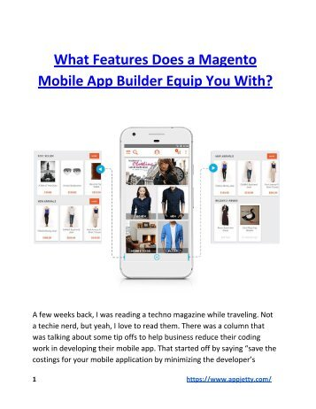 What Features Does a Magento Mobile App Builder Equip You With?