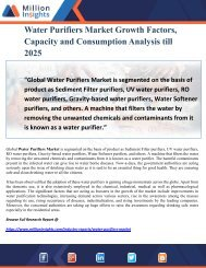 Water Purifiers Market Growth Factors, Capacity and Consumption Analysis till 2025