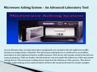Microwave Ashing System – An Advanced Laboratory Tool