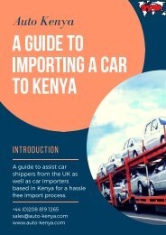 Rules and Regulation for Shipping a Car to Mombasa - Auto Kenya