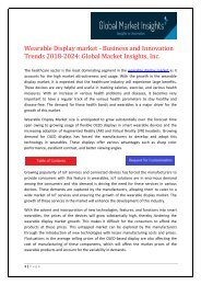 Wearable Display Market Share, Segmentation, Report 2024
