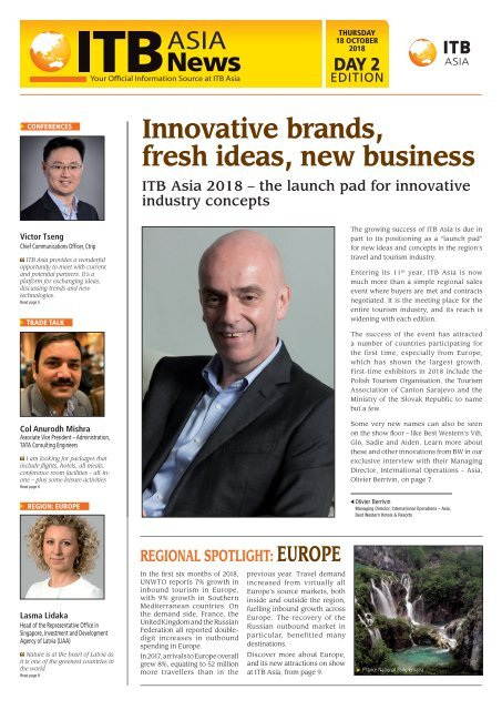 ITB Asia News 2018 - Day 2 Edition