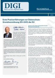 Erste Praxiserfahrungen zur Datenschutz- Grundverordnung (DS-GVO) der EU