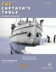 The Captain's Table - VMM Members Mag - Vol 2