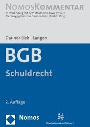 Dauner-Lieb - Lehrstuhl für Bürgerliches Recht, Wirtschaftsrecht und ...