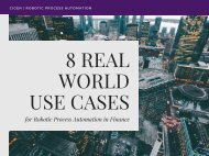 8 Real World Use Cases for Robotic Process Automation (RPA) in Finance