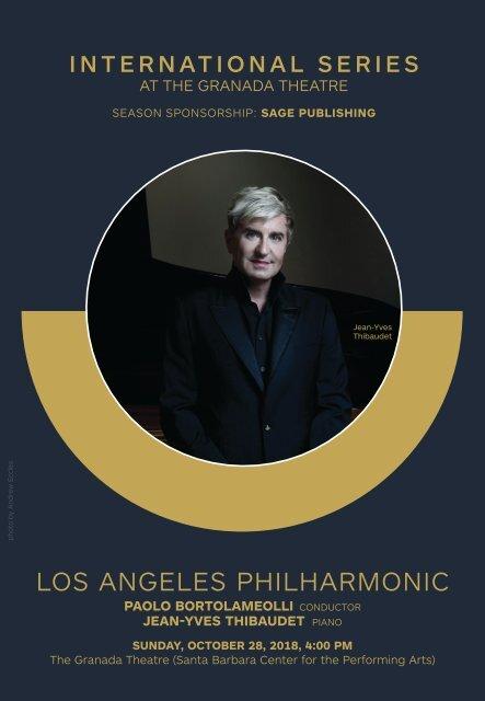 October 28, 2018—LA Phil—CAMA's Centennial Season—Opening Night—International Series at The Granada Theatre, Santa Barbara