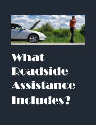 What Roadside Assistance includes