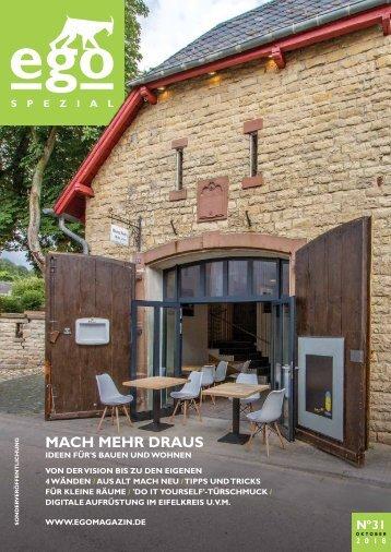 """ego Magazin Bitburg & Eifel - Sonderausgabe """"Bauen & Wohnen"""" Ausgabe No. 31"""