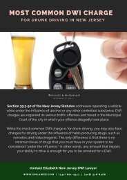 Most Common DWI Charges In New Jersey