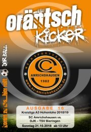 Ausgabe 16 / SCA - DJK TSV Bieringen