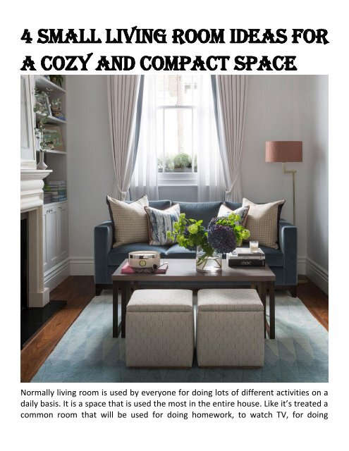 4 Small Living Room Ideas For A Cozy And Compact Space