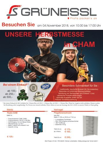 Herbstmesse 2018 in CHAM
