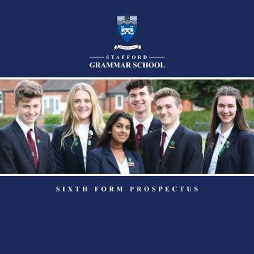 Stafford Grammar 6th Form prospectus