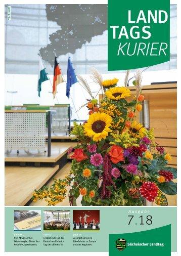 Landtagskurier des Sächsischen Landtags, Ausgabe 7/2018