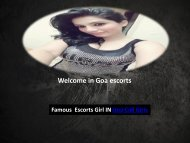 Natalya Dsouza is Famuas  Escorts Girl IN Goa