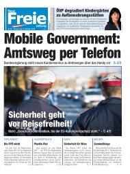 Mobile Government: Amtsweg per Telefon