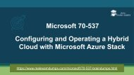 Latest Microsoft 70-537 Exam Braindumps - 70-537 Exam Dumps RealExamDumps