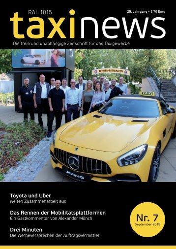 RAL1015 taxi news Heft 07-2018