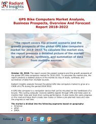 GPS Bike Computers Market Growth and Forecast Analysis Report 2018-2022